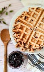 huckleberry waffles recipe easy homemade black huckleberry waffles what can you do with huckleberries recipe for summer berry recipes belgian waffles with huckleberries freshly picked recipes