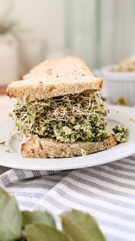 gluten free pesto tofu salad recipe vegan dairy free egg free pesto recipe gluten free healthy lunches without cooking