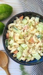 cucumber dill macaroni salad recipe vegan gluten free options with macaroni noodle salad with fresh garden cucumbers and homegrown dill recipes