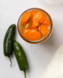 spicy pickled carrots mexican recipe carrots for tacos burritos fajitas and enchiladas spiced carrots with jalapeno peppers pickled in vinegar brine recipe