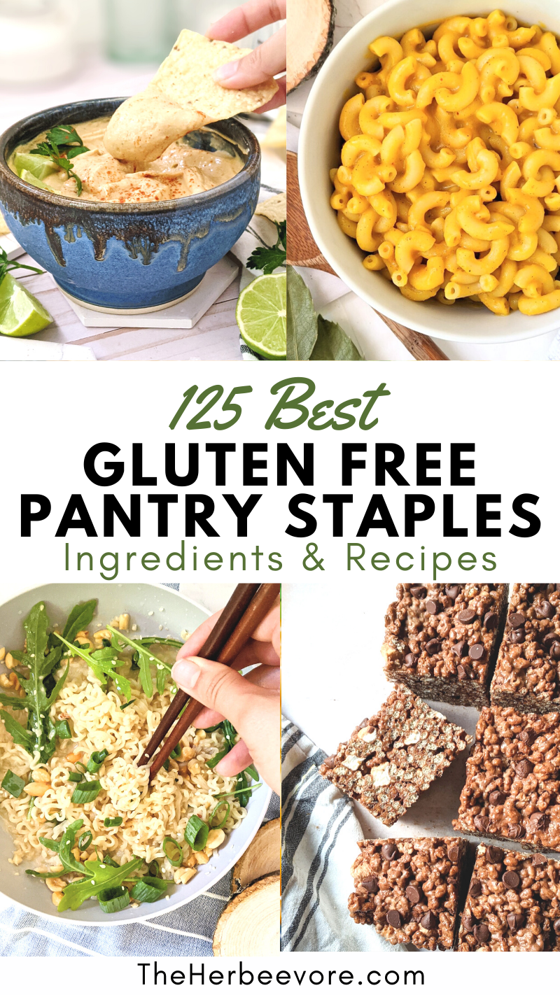gluten free pantry staples recipe and best gluten free cupboard ingredients to stock up on best gluten free pastas grains and gf recipes for healthy dinners breakfasts and desserts