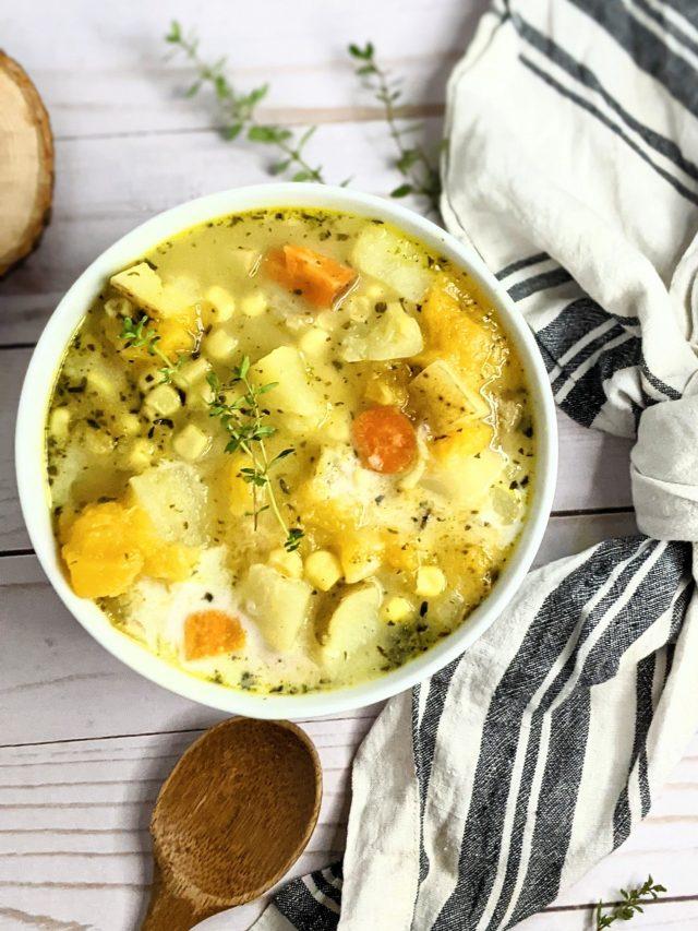 Cozy Autumn Vegetable Chowder (Gluten Free, Vegan)