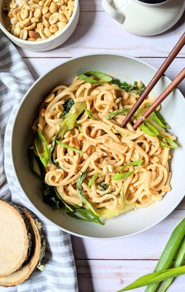 peanut udon recipe noodle bowl with udon peanut sauce stir fry vegetarian udon noodles with kale and green onions udon noodles creamy peanut thick noodles