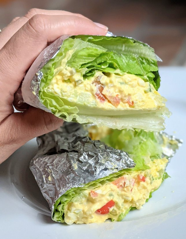 creamy keto egg salad recipes low carb wraps with lettuce and eggs meatless keto lunch ideas