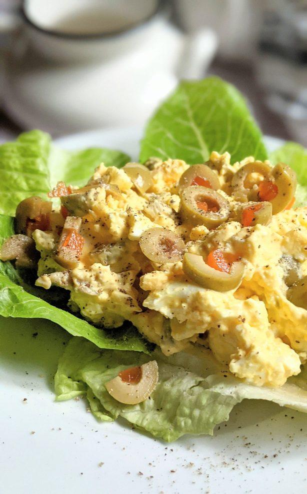 vegetarian keto lunch egg salad with olives recipe meatless keto salads