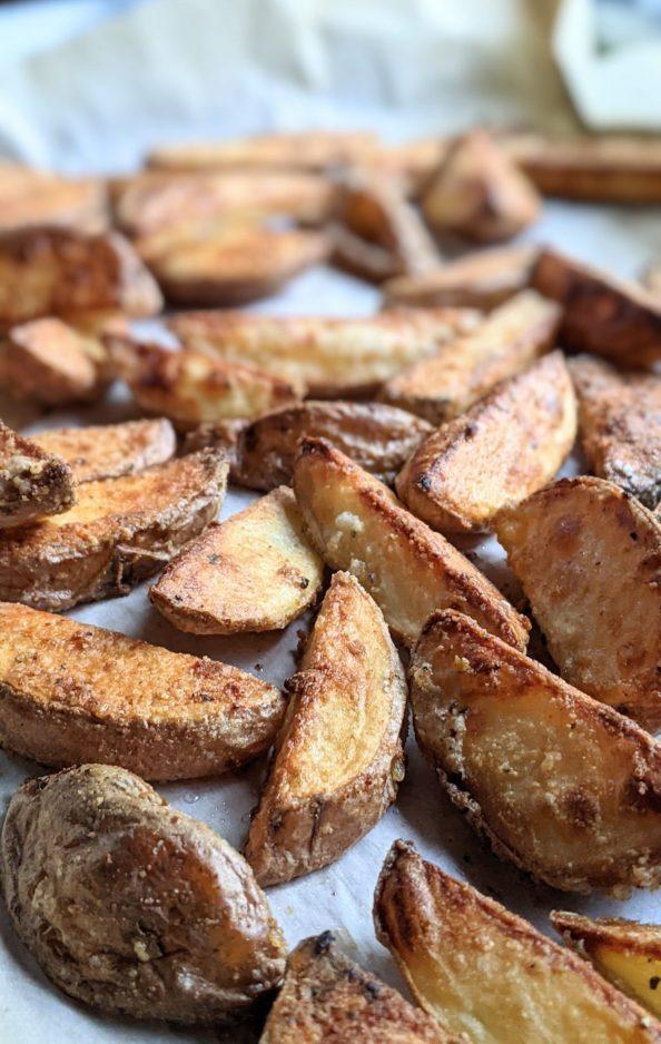 thick steak fries baked in the oven roasted steak fries recipe crispy potato wedges vegan gluten free vegetarian