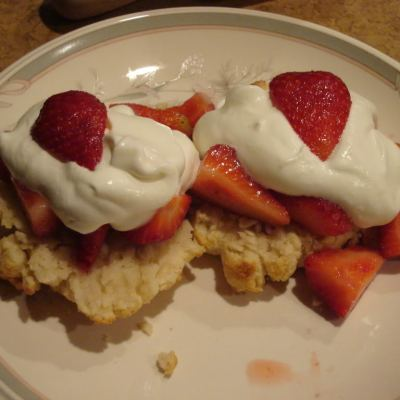 Strawberry Shortcake with Lemon Biscuits