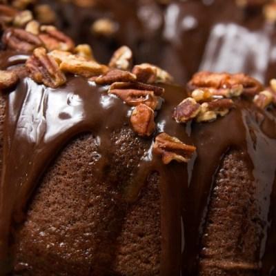 Chocolate Glazed Bundt Cake for Chocolate Monday!