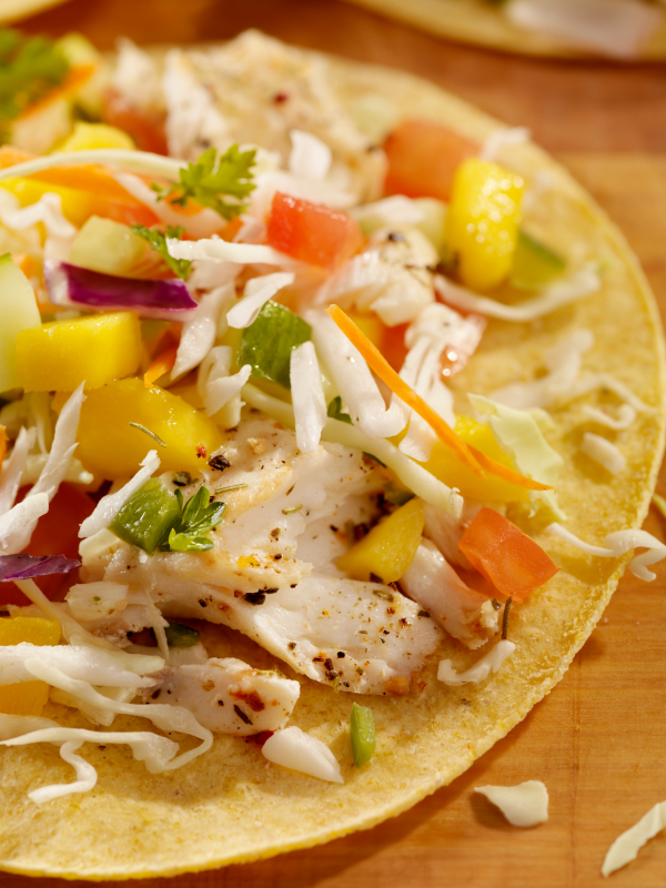 Grilled Chipotle Fish Tacos with Avocado Cream and ...