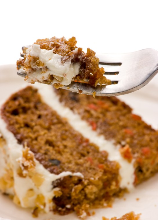 Classic Carrot Cake With White Chocolate Frosting For