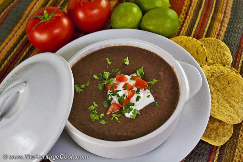 Black-Bean-Soup copyright 2012 Jane Bonacci, The Heritage Cook