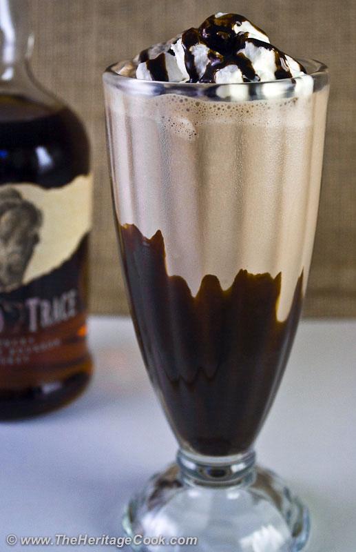 Chocolate Bourbon Milkshakes; Copyright 2012 Jane Evans Bonacci, The Heritage Cook