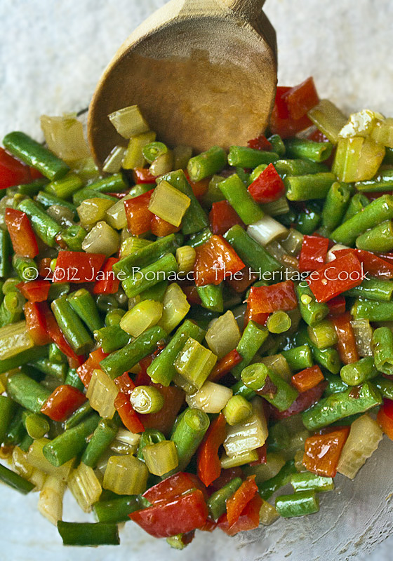 Spicy-Sesame-Veg-Pasta-Salad-copyright Jane Evans Bonacci, The Heritage Cook. All rights reserved