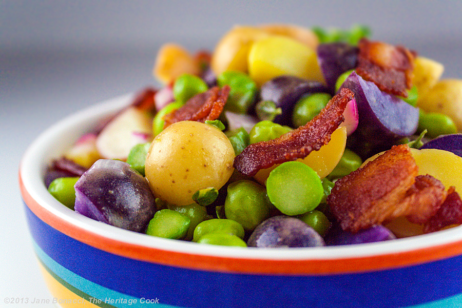 Pea-Potato-Bacon Salad from The Heritage Cook