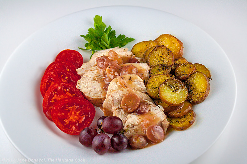 Chicken Breasts with Grape-Wine Reduction Sauce #SummerFest; The Heritage Cook 2013