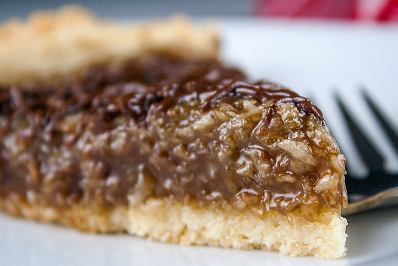 Samoa Cookie Tart (SRC) Gluten-Free, The Heritage Cook 2013