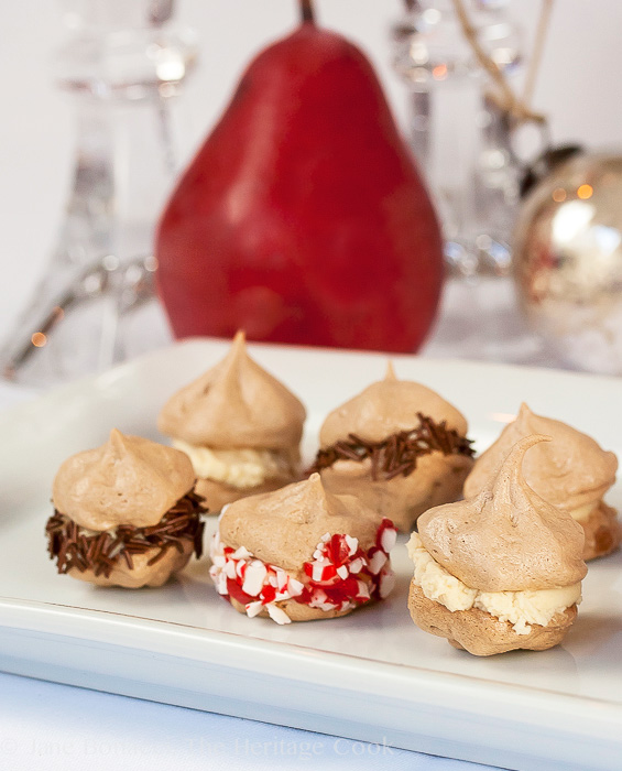 Cocoa Meringue Kisses; Jane Bonacci, The Heritage Cook 2013