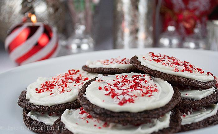Chocolate-Peppermint Cookies (SRC); 2013 Jane Bonacci, The Heritage Cook