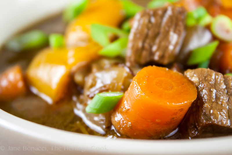 Valentine's Day Love Story & Old-Fashioned Beef Stew; 2014 Jane Bonacci, The Heritage Cook