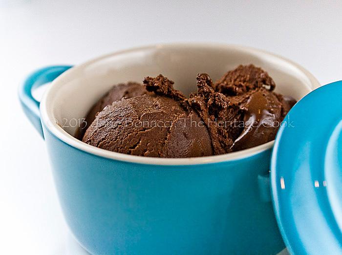 DF/GF Chocolate Gelato; 2014 Jane Bonacci, The Heritage Cook