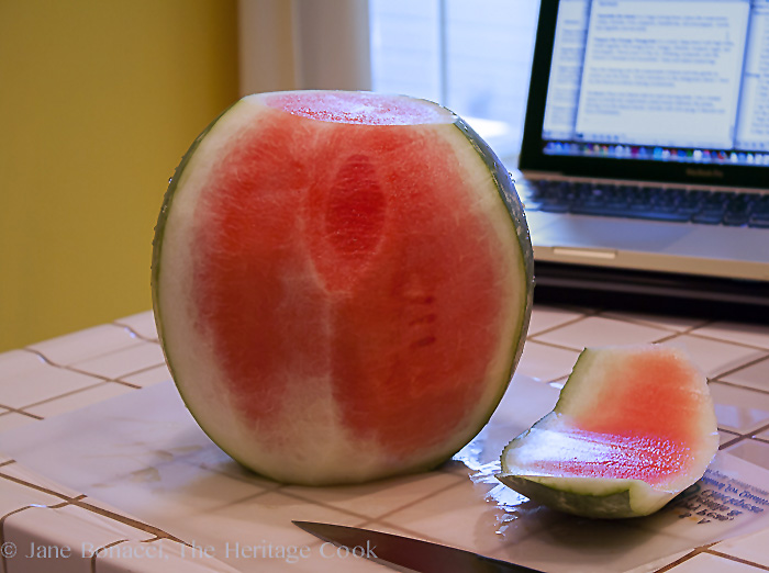 how to cut a whole watermelon