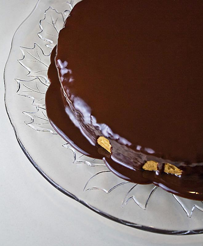Yellow Cake & Chocolate Frosting; 2014 Jane Bonacci, The Heritage Cook