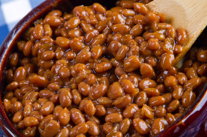Amped Up BBQ Beans; 2014 Jane Bonacci, The Heritage Cook