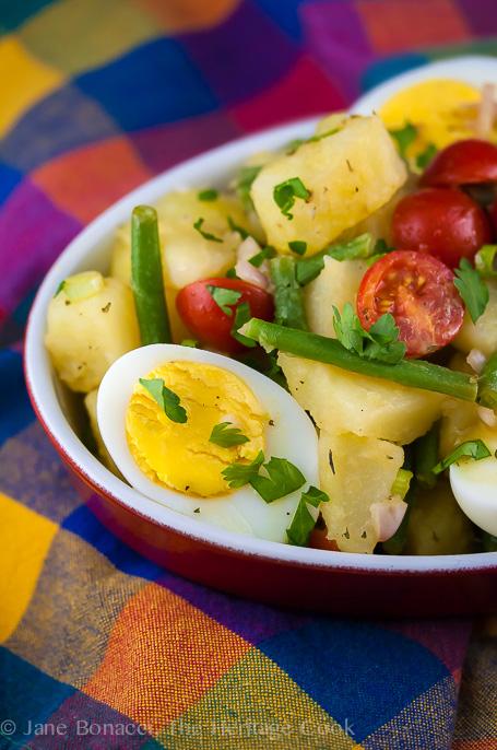 French Potato Salad with Haricot Vert #SummerSoiree; 2014 Jane Bonacci, The Heritage Cook