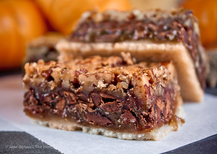 Pecan Pie Bar Cookies with Chocolate Chips, Desserts, Treats, Sweets, Thanksgiving, Christmas, Potlucks,