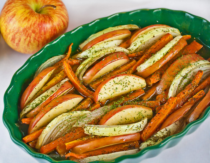 These Maple Roasted Carrots, Apples & Onions are the perfect holiday side dish and health to boot!