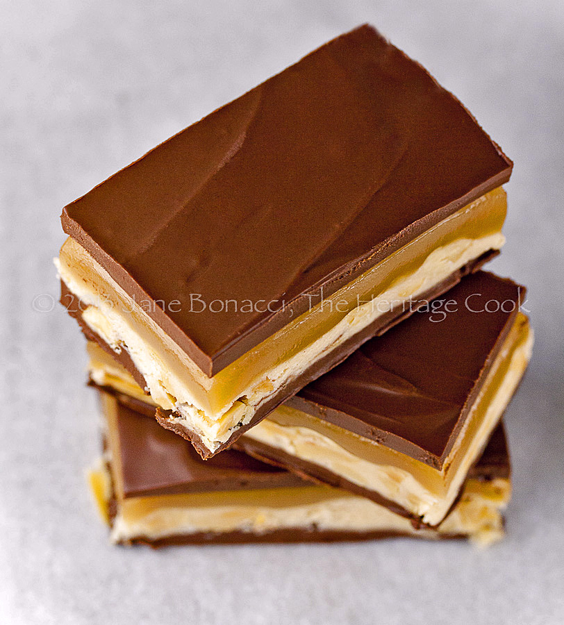 Homemade Snickers Bars - Top Chocolate Monday Recipes of 2014 on The Heritage Cook