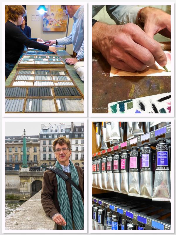Maison de Pastels; The Artist's Hands; In front of Sennelier; Sennelier Paints; 2015 The Heritage Cook