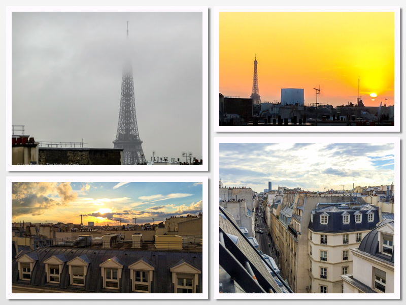 Views from our hotel room in Paris France; 2015 The Heritage Cook