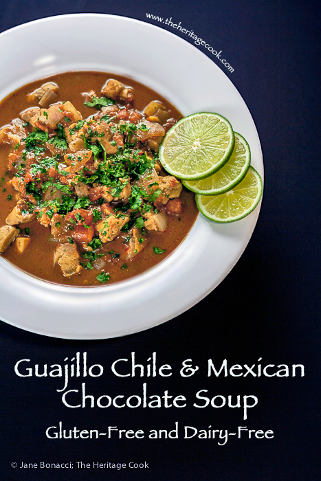Rich and spicy Mexican Mole -flavored soup; perfect for chilly winter days
