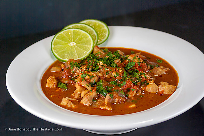 Rich and spicy Ancho Chile Mole Soup - perfect for game day, it will warm up any chilly winter day