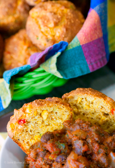 These gluten-free corn muffins were the perfect accompaniment to our bowls of chiili