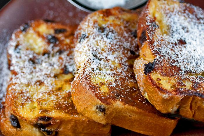 Chocolate Chip Brioche French Toast; 2015 Jane Bonacci, The Heritage Cook