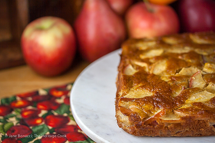 Grill Baked Apple and Pear Cake; 2015 Jane Bonacci, The Heritage Cook