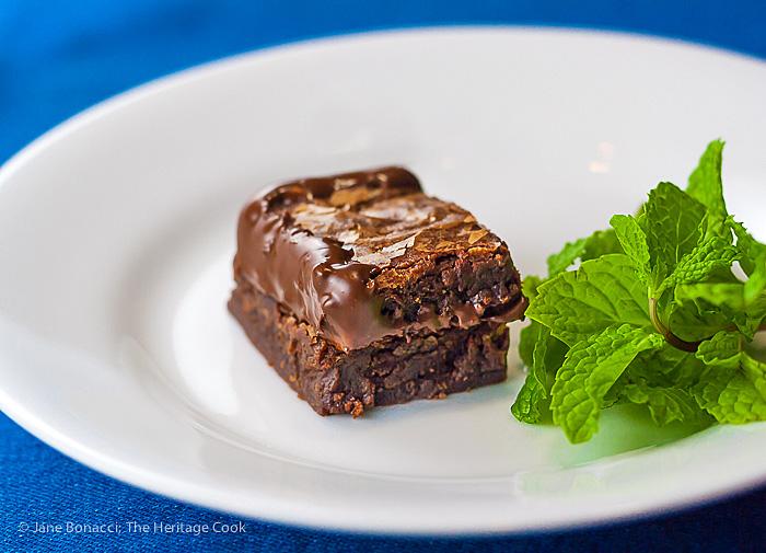 Double Decker Brownies; 2015 Jane Bonacci, The Heritage Cook