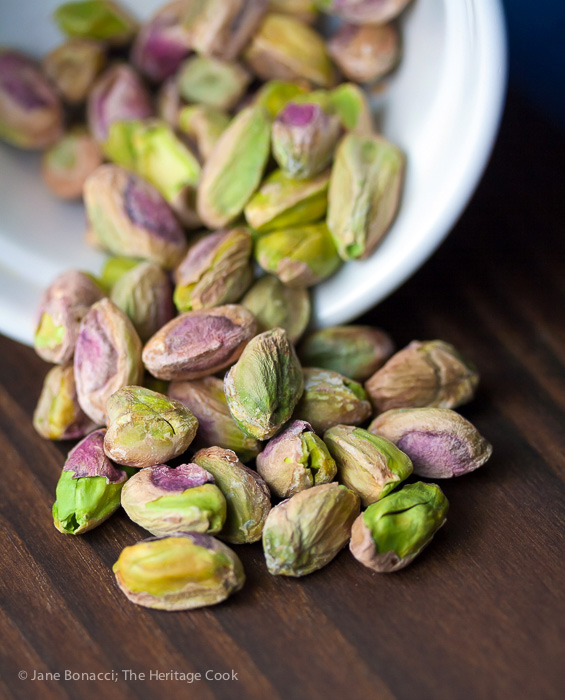The beautiful colors of pistachios
