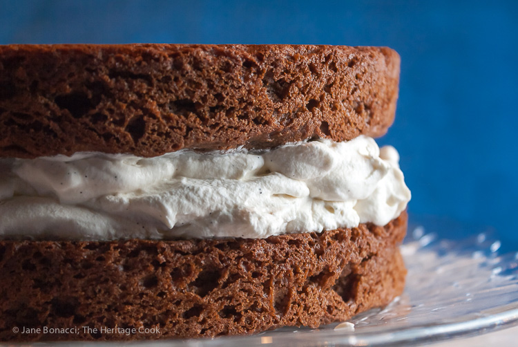 Chocolate Layer Cake with Whipped Cream Filling; © 2015 Jane Bonacci, The Heritage Cook