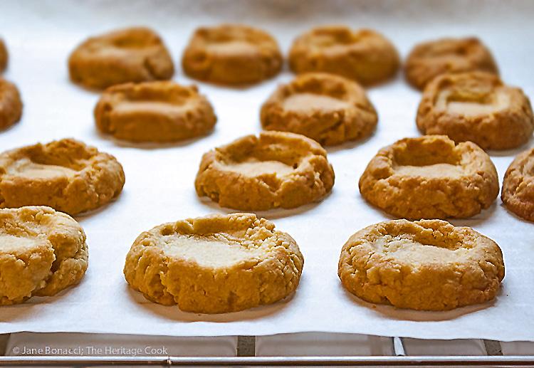 Chocolate Thumbprint Cookies (Gluten Free); 2015 Jane Bonacci, The Heritage Cook
