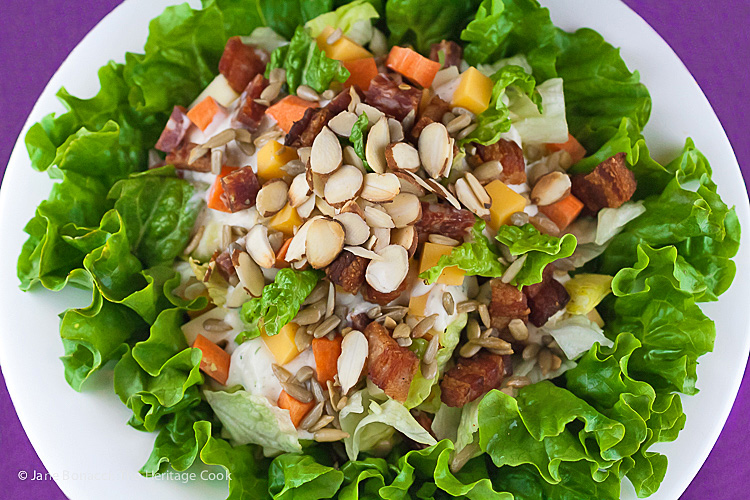 Chopped Steakhouse-Style Salad; Some favorites from The Heritage Cook's Library of Recipes; 2015 Jane Bonacci, The Heritage Cook