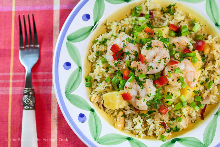 Gourmet Garden Thai Shrimp and Pineapple Rice; © 2015 Jane Bonacci, The Heritage Cook