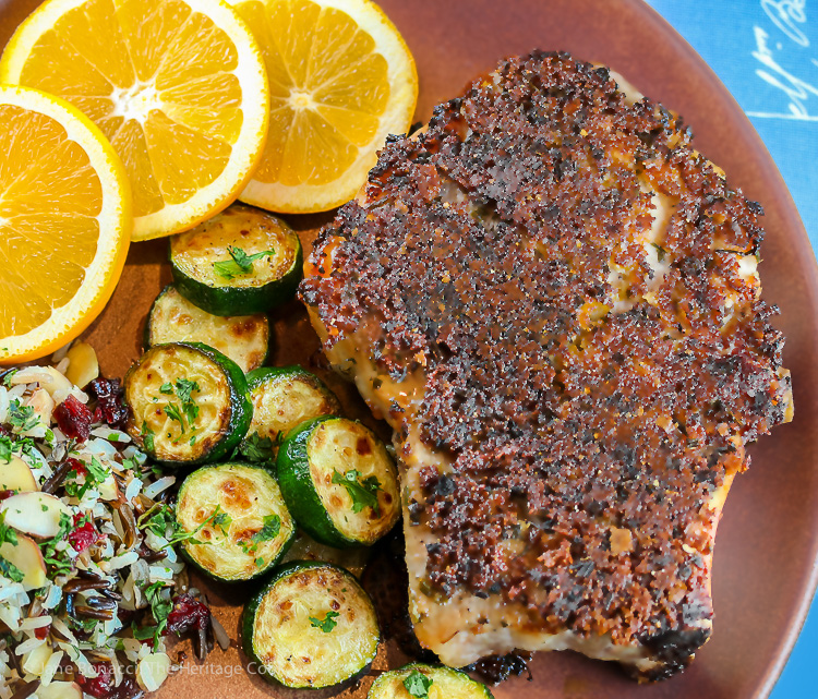 Herbed Pork Chops; Jane Bonacci 2015 The Heritage Cook