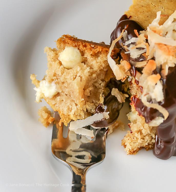 Who wants a bite - Chocolate Walnut Olive Oil Skillet Cookie Gluten Free Paleo SRC; © 2016 Jane Bonacci, The Heritage Cook