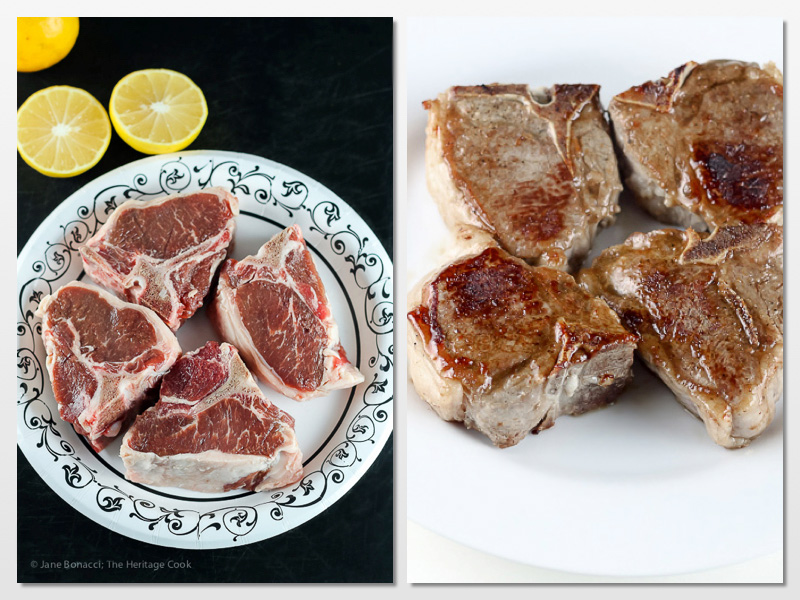You can also use the glaze on lamb or pork loin chops; Frenched Rack of Lamb Roasted with Rosemary Mustard Glaze - Gluten Free; © 2016 Jane Bonacci, The Heritage Cook