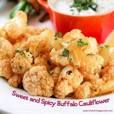 Sweet and Spicy Buffalo Cauliflower (Gluten-Free)