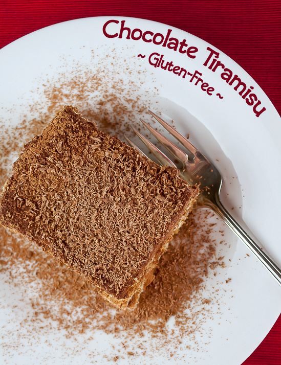 Gluten-Free Chocolate Tiramisu; © 2016 Jane Bonacci, The Heritage Cook