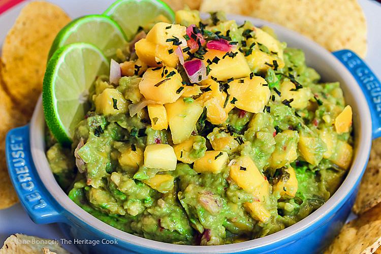 Chunky and Spicy Caribbean Guacamole © 2016 Jane Bonacci, The Heritage Cook
